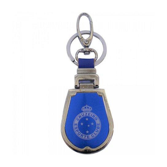 Chaveiro de Couro e Metal Cruzeiro - Azul - Compre Agora  8dcfc47f632e4