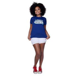 80a61bbed1 Camiseta Funfit So Corro Pra Comer Feminina