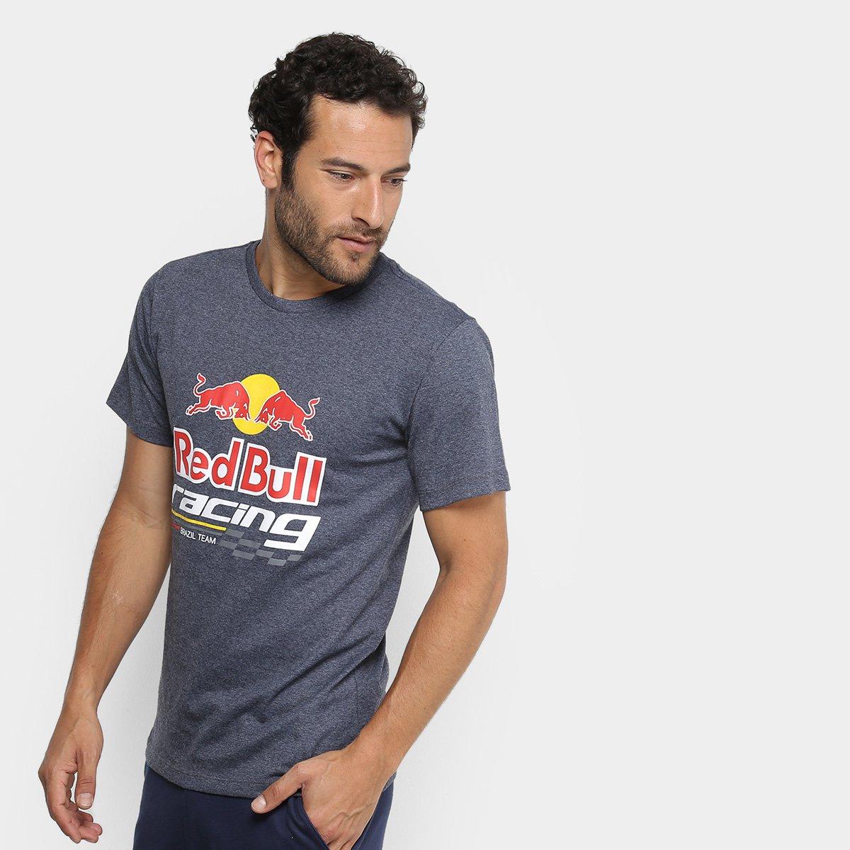Camiseta Red Bull Racing Estampada Masculina b393f501f2b