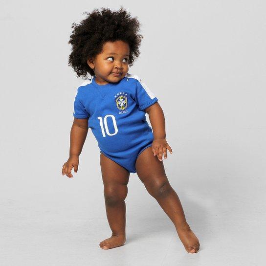 237786269a Body Seleção Brasileira Infantil Camisa II Nº 10 - Compre Agora ...