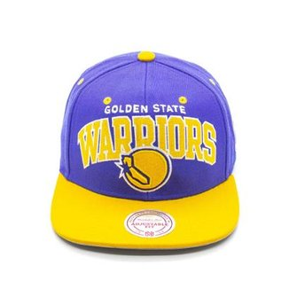Boné Mitchell   Ness Team Arch NBA Golden State Warriors Aba Reta 7b35c33c7d9