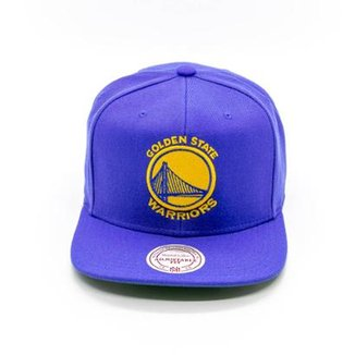 4faf9304f1aa2 Boné Mitchell   Ness Solid NBA Golden State Warriors Aba Reta