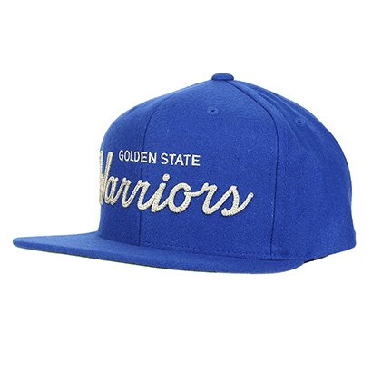 Boné Mitchell & Ness NBA Golden State Warriors Aba Reta Embroidery Masculino