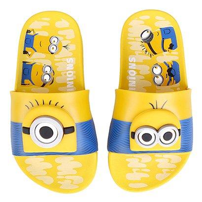 Chinelo Infantil Grendene Kids Minions Para Tu Slide