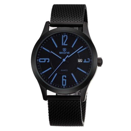 74fe5424296 Relógio Skone Analógico 7347 - Azul - Compre Agora