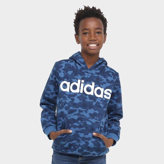 061c44b5f9 Agasalho Adidas Yb Lin Hood Aop Infantil - Compre Agora