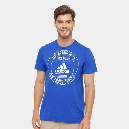 Camiseta Adidas Badge Masculina - Azul - Compre Agora  55d1b745698