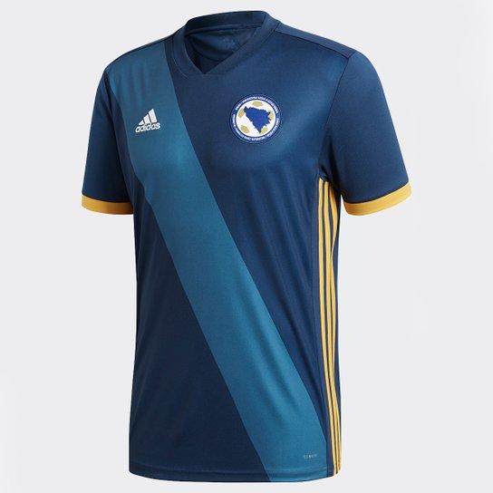 6bd6d90925f Camisa Seleção Bósnia Home 17 18 s n° Torcedor Adidas Masculina - Azul