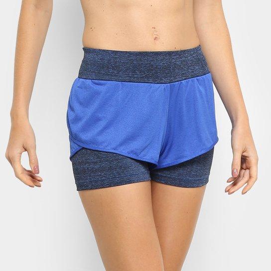 6bab60b6f Short Adidas M Dual Feminino - Azul e Preto | Netshoes