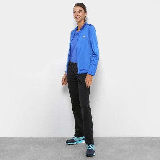 Agasalho Adidas Ess Ep Feminino - Azul e Preto - Compre Agora  65d84ee3bc44c