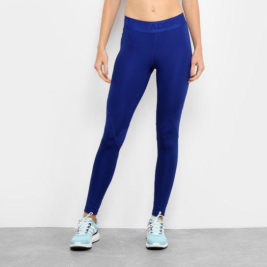 Calça Legging Adidas DNA Alphaskin Sport Feminina - Azul - Compre ... 7c757d09dd929