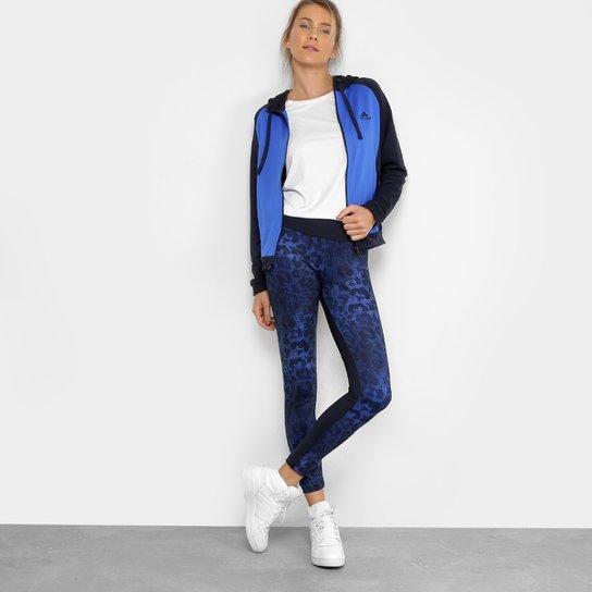 9602aa76e20 Agasalho Adidas Wts Feminino - Azul - Compre Agora