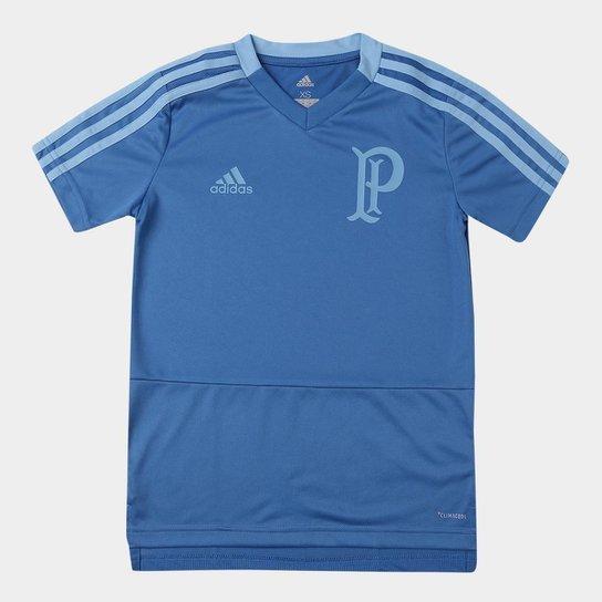 a73c343e9cc Camisa Palmeiras Infantil Treino Adidas - Azul - Compre Agora