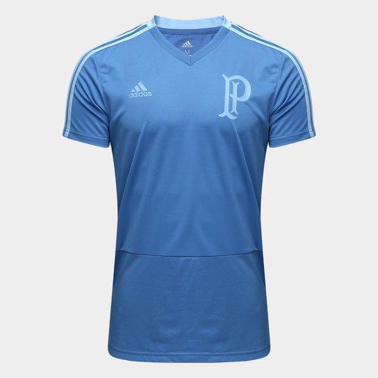 Carregando zoom. caa8f79c364 Camisa de Treino Palmeiras Adidas Masculina -  Azul - Compre Agora .. ... 41fd0546de65b