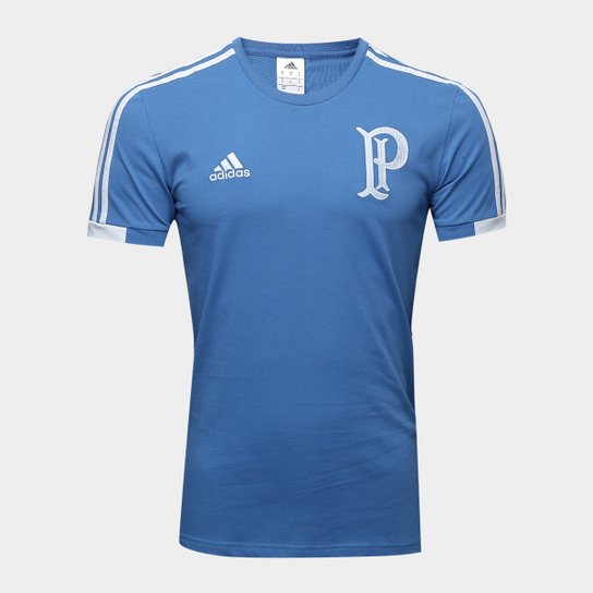 Camiseta Palmeiras Viagem Adidas Masculina - Azul - Compre Agora ... d946391db1f18