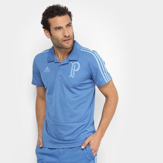 f0ea08c088ebd Camisa Polo Palmeiras Adidas Viagem Masculina - Azul - Compre Agora ...
