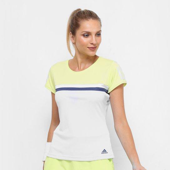 23c9ab3179 Camiseta Adidas Club Color Feminina - Azul e Verde - Compre Agora ...