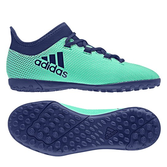 Chuteira Society Infantil Adidas X 17.3 TF - Azul - Compre Agora ... 37ff26b6a4822
