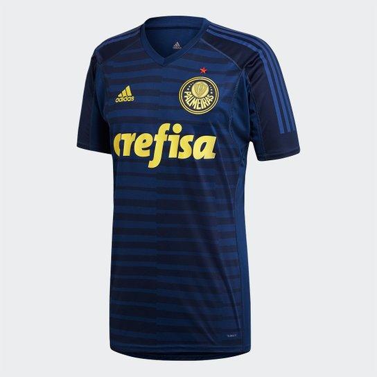 09f5bb4724b07 Camisa de Goleiro Palmeiras 2018 s n° - Torcedor Adidas Masculina - Azul
