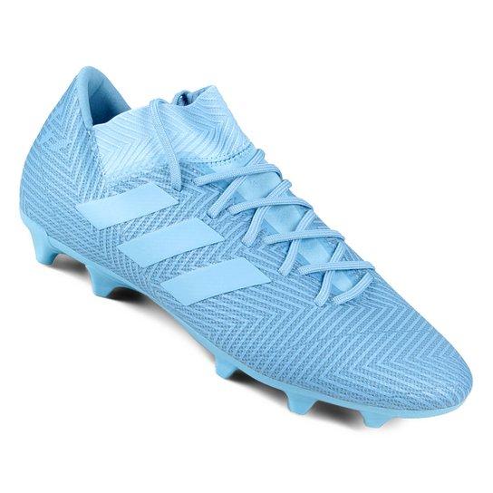85410dcf97bb2 Chuteira Campo Adidas Nemeziz Messi 18 3 FG - Azul - Compre Agora ...