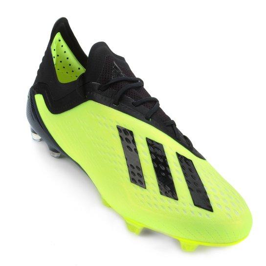 082960c905c Chuteira Campo Adidas X 18 1 FG - Amarelo+Preto