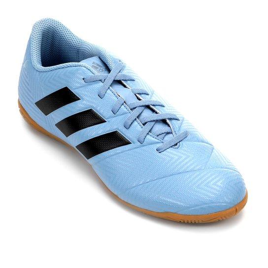 2e1f27d23a Chuteira Futsal Adidas Nemeziz Messi Tan 18 4 IN - Azul e Preto ...
