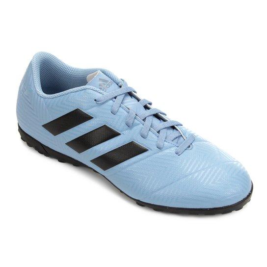 7b7fa8bca5 Chuteira Society Adidas Nemeziz Messi Tan 18 4 TF - Azul e Preto ...