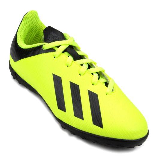 Chuteira Society Infantil Adidas X Tango 18 4 TF - Amarelo e Preto ... a57d910180ffb