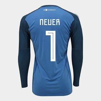 cf0b667be4bec Camisa de Goleiro Alemanha 2018 n° 1 Neuer - Torcedor Adidas Masculina