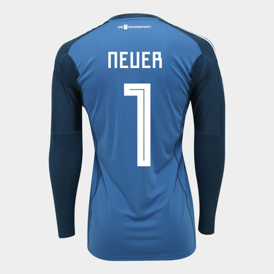 Camisa de Goleiro Alemanha 2018 n° 1 Neuer - Torcedor Adidas Masculina -  Azul 1e32acac88244