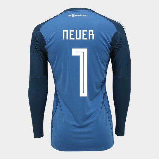 77e66957ba Camisa de Goleiro Alemanha 2018 n° 1 Neuer - Torcedor Adidas Masculina -  Azul