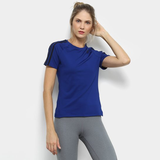 7bb035a81 Camiseta Adidas D2M 3Stripes Feminina | Netshoes