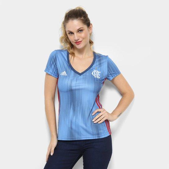 5041eecdafd88 Camisa Flamengo III 2018 s n° - Torcedor Adidas Feminina - Azul ...