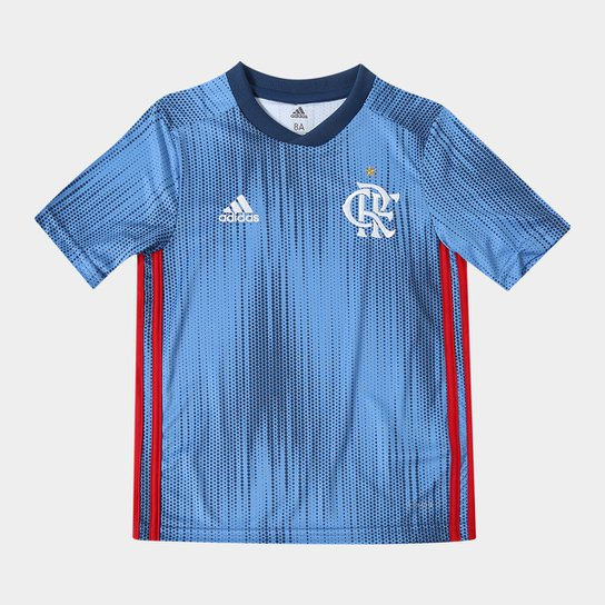 Camisa Infantil Flamengo III 2018 s n° - Torcedor Adidas - Azul ... b6149717a185d
