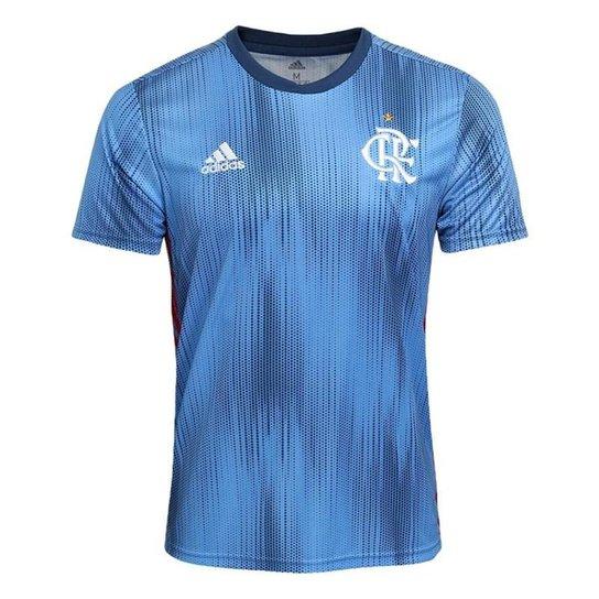 Camisa Flamengo III 2018 s n° - Torcedor Adidas Masculina - Azul ... 4f8a7de2b996a