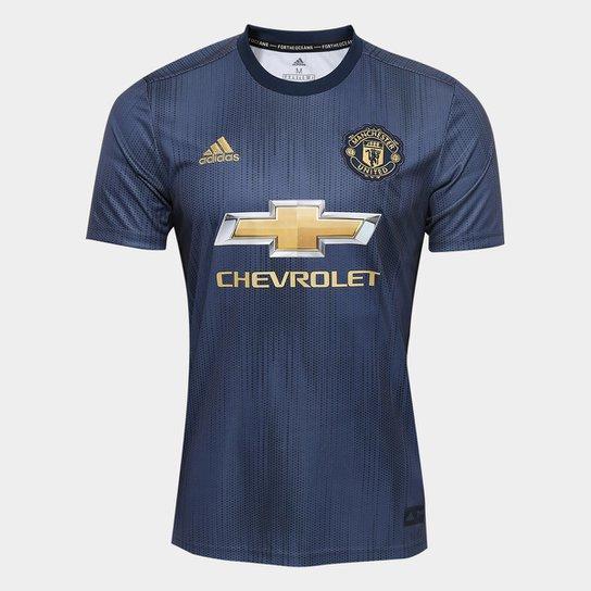 d4e83ba68e906 Camisa Manchester United Third 2018 s/n° - Torcedor Adidas Masculina - Azul