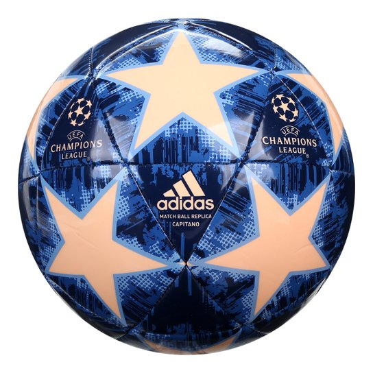 ce292d32ee0eb Bola de Futebol Campo Uefa Champions League Adidas Finale 18 Capitano - Azul