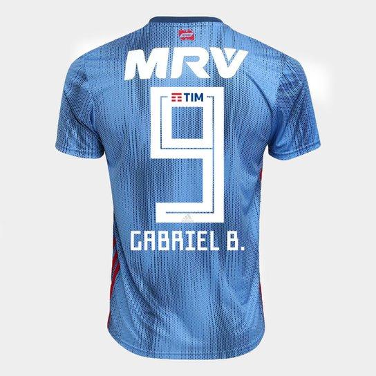 c05d2d6db0697 Camisa Flamengo III 2018 N° 9 Gabriel B. - Torcedor Adidas Masculina - Azul