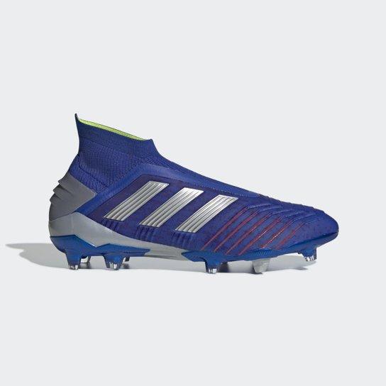 2e8d40af128 Chuteira Campo Adidas Predator 19+ - Azul - Compre Agora