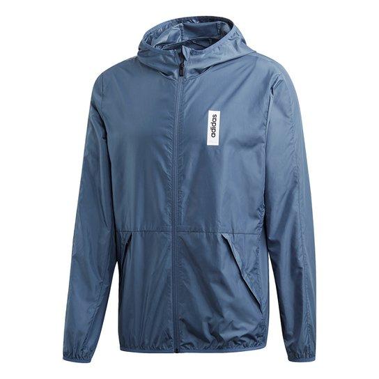 da22cb95d9 Jaqueta Corta Vento Adidas Capuz M Bb Windbr Masculina - Azul | Netshoes