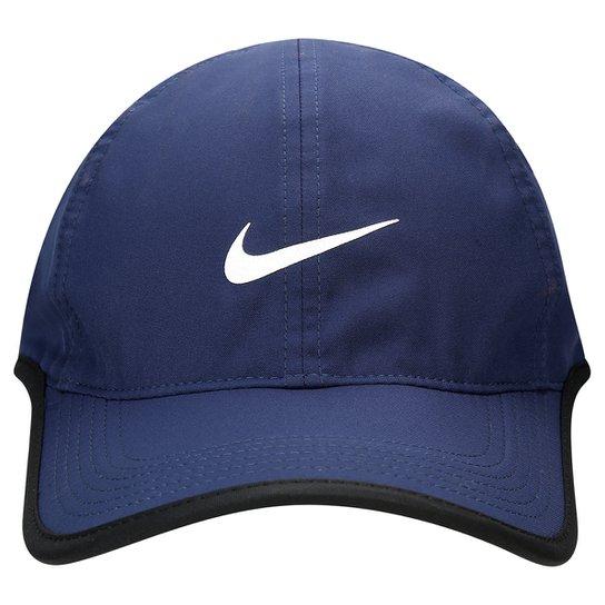 Boné Nike Aba Curva Featherlight - Marinho - Compre Agora  0103cb3c405