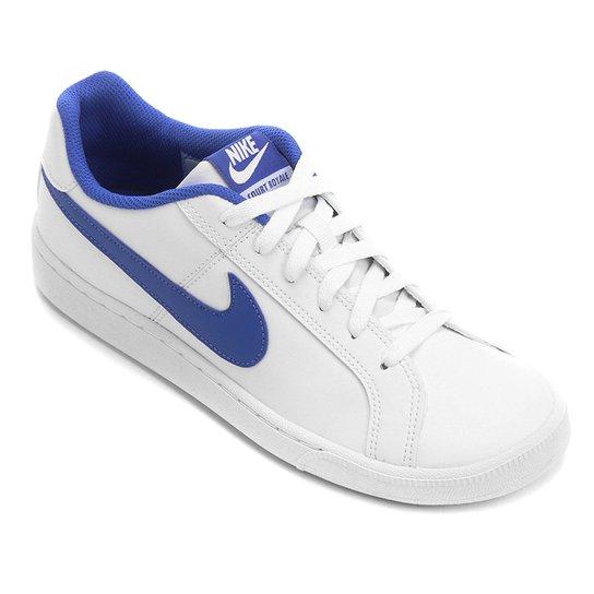 new product ad1b4 47ba6 Tênis Couro Nike Court Royale Masculino - Azul