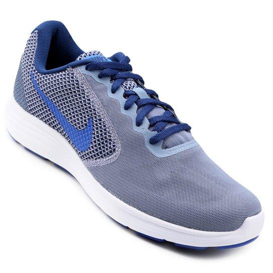 02bc935c734 Tênis Nike Revolution 3 Masculino - Azul - Compre Agora