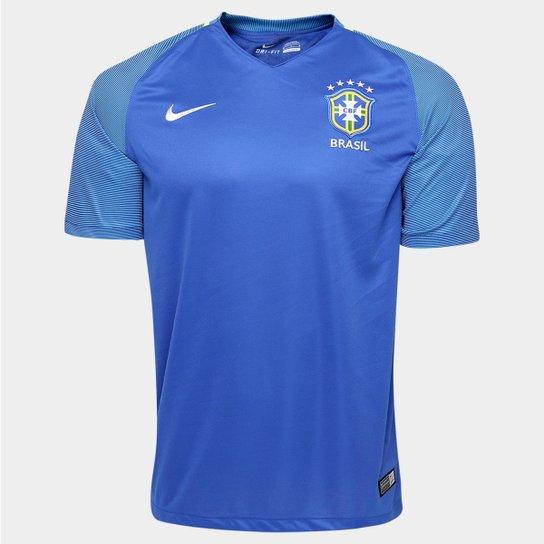 5d1c3f570d9b5 Camisa Seleção Brasil II 2016 s nº Torcedor Nike Masculina - Compre ...