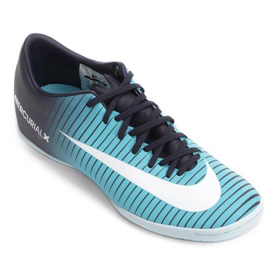 cfba3c4e56 Chuteira Futsal Nike Mercurial Victory 6 IC - Azul e Preto - Compre ...