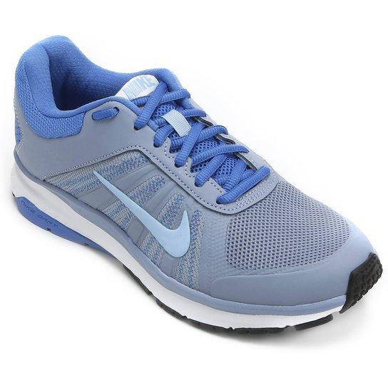 d60ea6d649c Tênis Nike Dart 12 MSL Feminino - Cinza e Azul - Compre Agora
