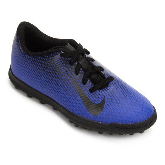 bc3df995d791e Chuteira Society Infantil Nike Bravata 2 TF - Azul e Preto - Compre ...