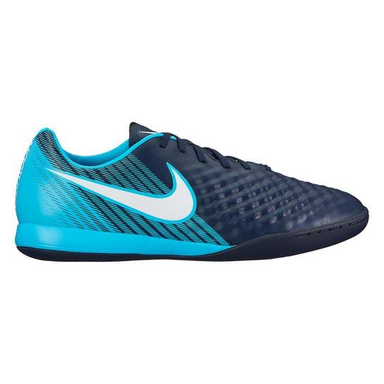 5d23633a3b531 Chuteira Futsal Nike Magista Onda II IC - Azul e Preto - Compre ...