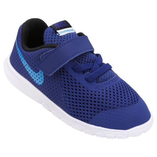 7391952d6bb Tênis Infantil Nike Flex Experience 5 - Azul e Azul claro - Compre ...