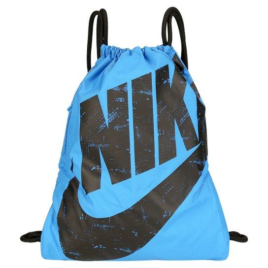 Sacola Nike Heritage Gymsack - Azul e Preto - Compre Agora  d929a6454858d